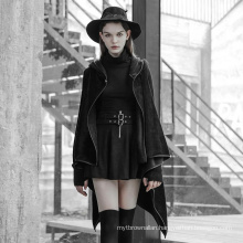 OPY-349 PUNK RAVE Irregular Hem Woolen Sleeve coat women korea fashion long coat