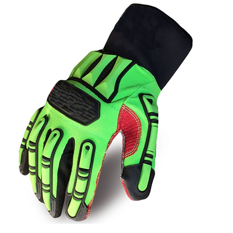 Fluorescence Material Drilling Gloves
