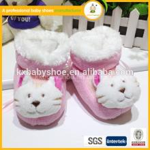 Novo estilo de moda de chegada bonito padrão animal padrão quente sapatos de inverno para crianças