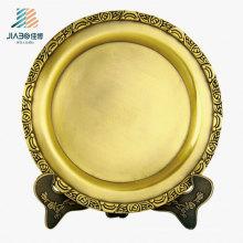 Wx-8074 Akzeptiert anpassen 20 cm Messing Metall Souvenir Teller für Geschenk