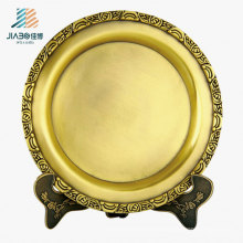 Wx-8074 Accepted Customize 20cm Brass Metal Souvenir Plate for Gift