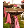Tissu de polyester de serviette de Tableau de décoration de mariage pour le mariage