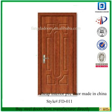 cheap interior pvc door made in china