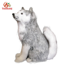 Custom Black And White /Brown/Red Plush Puppies Doll Life Size Peluche Dog Toy Stuffed Animal Plush Husky For Sale