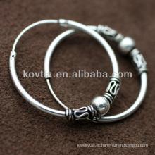 Mulheres estilo vintage 925 Tailândia brinco brinco de prata