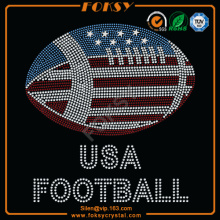UAS Football Flag applique en strass en gros