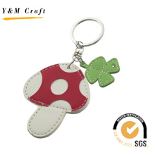 Mushroom Shape and Four - Leaf Clover PU Keyring (Y03392)