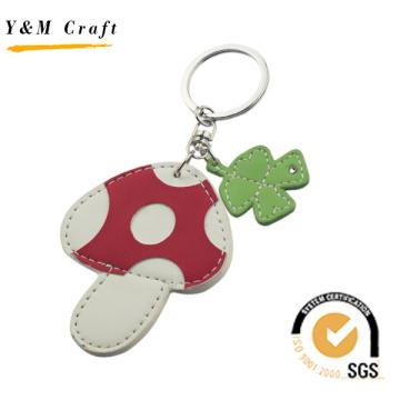 Mushroom Shape and Four - Leaf Clover PU Keyring (Y03392)