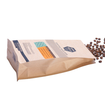 Flat Bottom Kraft Paper Kaffe Bag