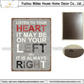 Shabby Chic Eco-Friendly Vintage Metal Letters Wall Plaque