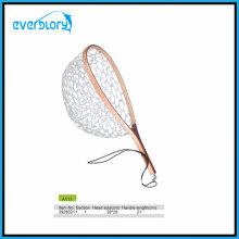 Holzgriff Fliegenfischen Netz Angelgerät mit Gummi Netz