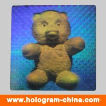 Étiquette holographique de sécurité adhésive 2D / 3D