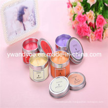 Luxury Scented Soy Travel Candle in Tin Container with Lid