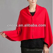 13STC5499 nouveau design dames tricoté poncho à capuche