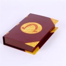 Изготовленный на заказ напечатанная книга shaped бумажная коробка конфеты