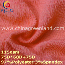 Polyester Spandex Chiffon Plain Fabric for Woman Dress (GLLML358)