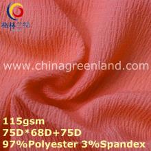 Лайкра полиэфира Шифоновая однотонная ткань для женщины платье (GLLML358)
