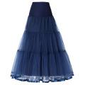 Grace Karin Mujer Retro Crinolina Azul marino Underskirt Enagua para el vestido de la vendimia CL010421-6