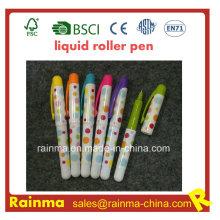 Mini plástico pluma de rodillo líquido con buen color mulit