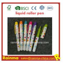 Mini Plastic Liquid Roller Pen mit schöner Mulit Farbe