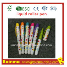 Mini caneta de rolo líquido plástico com bela cor Mulit
