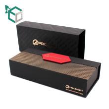 sellado de la hoja de color marrón negro en el diseño de personalización de color oro caja de paquete de regalo de chocolate al por mayor