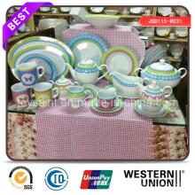 Juego de cena de porcelana con diseño de venta caliente