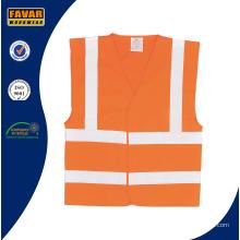 Orange 100% High Visibility Reflective Safety Vest