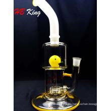 Vogel Ente Bienenwabe Perc Scheibe Glas Bubbler Wasserpfeifen: