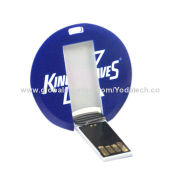 Flip Mini Circle Card Plastic USB