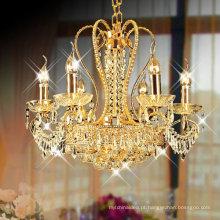 império 9 luzes pequeno lustre de cristal pingente de ouro luz LT-70055