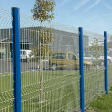 blauer Farbe PVC-überzogener geschweißter Zaun für Flughafen