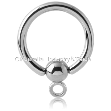 Surgical Steel Ball Closure Ring with Hoop