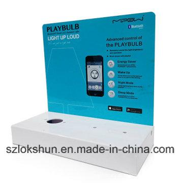 China Acrylic Counter Display Stands para Mobile Case, Printd Acrílico POS Display