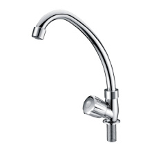 White plastic single handle kitchen faucet kx81044