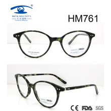 Nueva venta caliente mejor diseño acetato gafas (hm761)