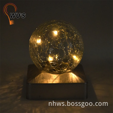2017 New metal decorative light changeable colors crystal ball light
