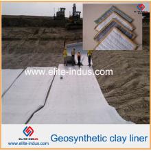 Revestimentos de argila geossintéticos para a barragem e a esteira de bentonita de aterro