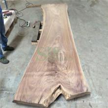 Plateau de Table solide de noyer noir américain pour meubles