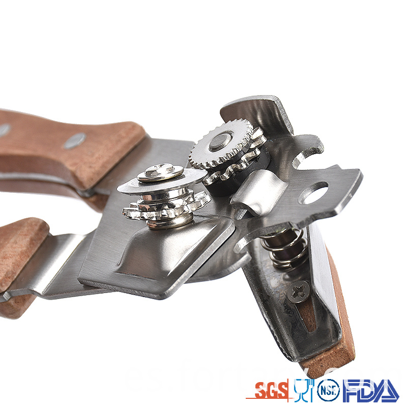 Stainless Steel Head Wooden Can Opener