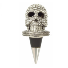 New Arrived Crystal Encrusted Skull Bottle Stopper
