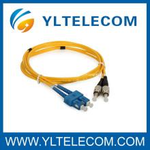 SC às tranças do cabo de remendo da fibra ótica de FC e cabo de remendo da fibra, cabo de remendo da fibra da fita do pacote