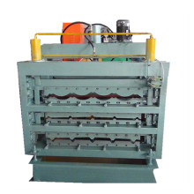 Trapezoidal tile three layer galvanized roll forming machine