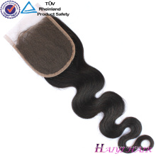 Cuticle Aligned Natural Black Color Hair Products For Black Women Lace Closure