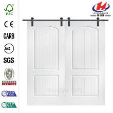 72 дюйма х 80 дюймов. Санта-Фе гладкая композитная двойная дверь сарая с раздвижной дверью комплект оборудования