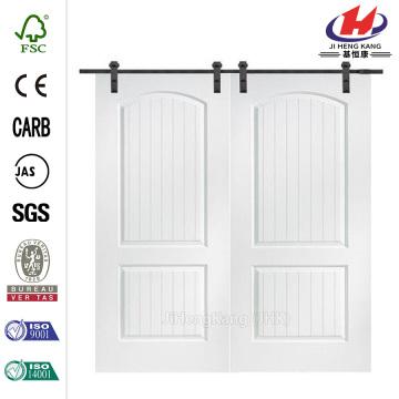 80in Smooth Composite Double Barn Wooden Door