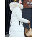 Warmer Pelzparka Fashion Hooded Quilted Wintermantel