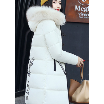Winter Fur Parka Fashion Hooded Quilted Coat Winter