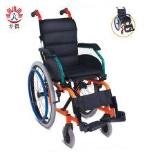Silla de ruedas plegable manual de aluminio para niños