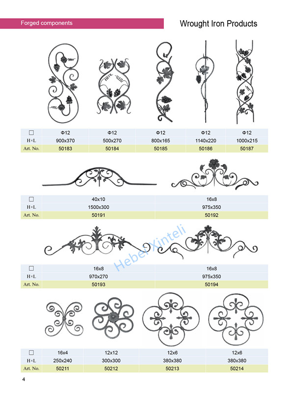 ornamental cast iron rosettes